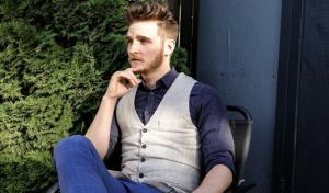 a man sitting on a chair